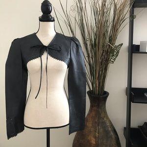 Arden B Leather Bolero